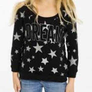 Chaser Starry Dream Pullover Girls Raglan Top Size